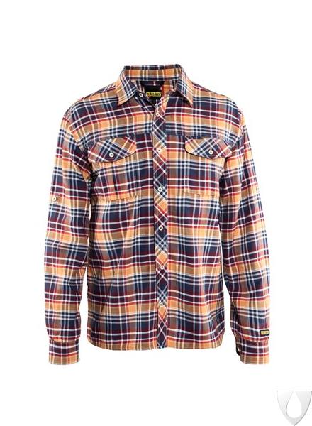 3299 Blåkläder Overhemd Flanel