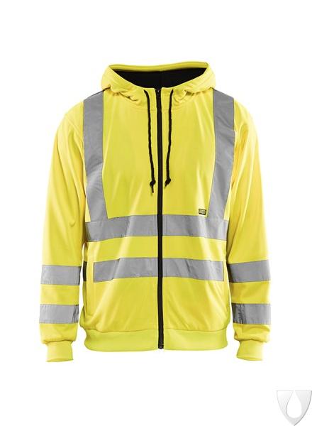 3346 Blåkläder Hooded Sweatshirt High Vis