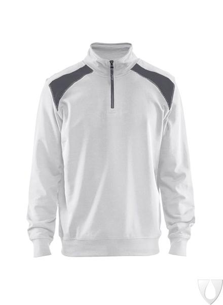 3353 Blåkläder Sweatshirt BI-colour met halve rits
