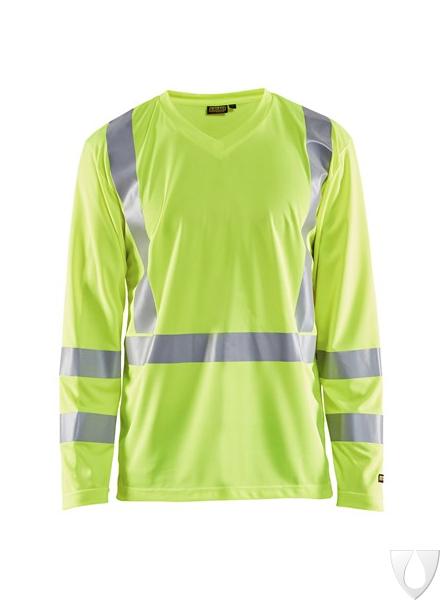 3383 Blåkläder UV T-Shirt Lange Mouw High Vis