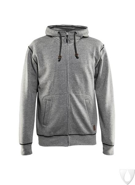 3398 Blåkläder Hooded sweatshirt met rits