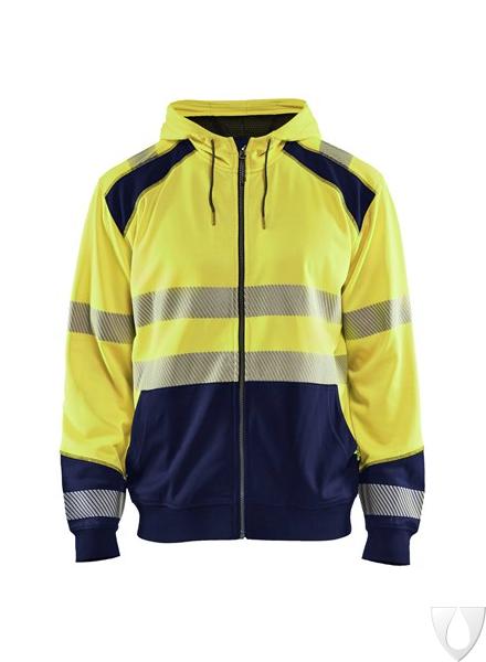 3546 Blåkläder Hooded Sweatshirt High Vis