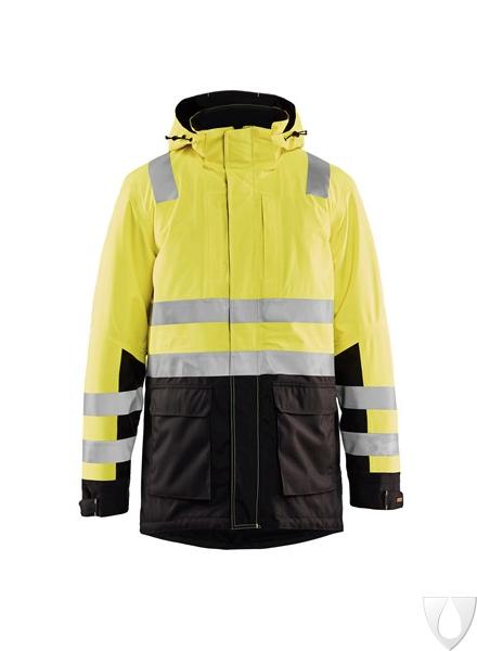 Blaklader Workwear High Vis Winter Jacket Yellow//Black XL