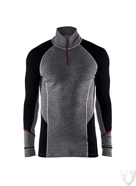 4699 Blåkläder Onderhemd Zip-Neck Xwarm, 100% Merino