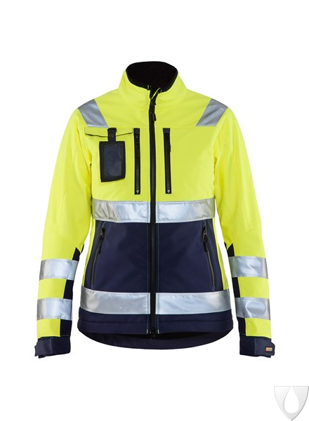 4902 Blåkläder Dames Softshell Jack High Vis