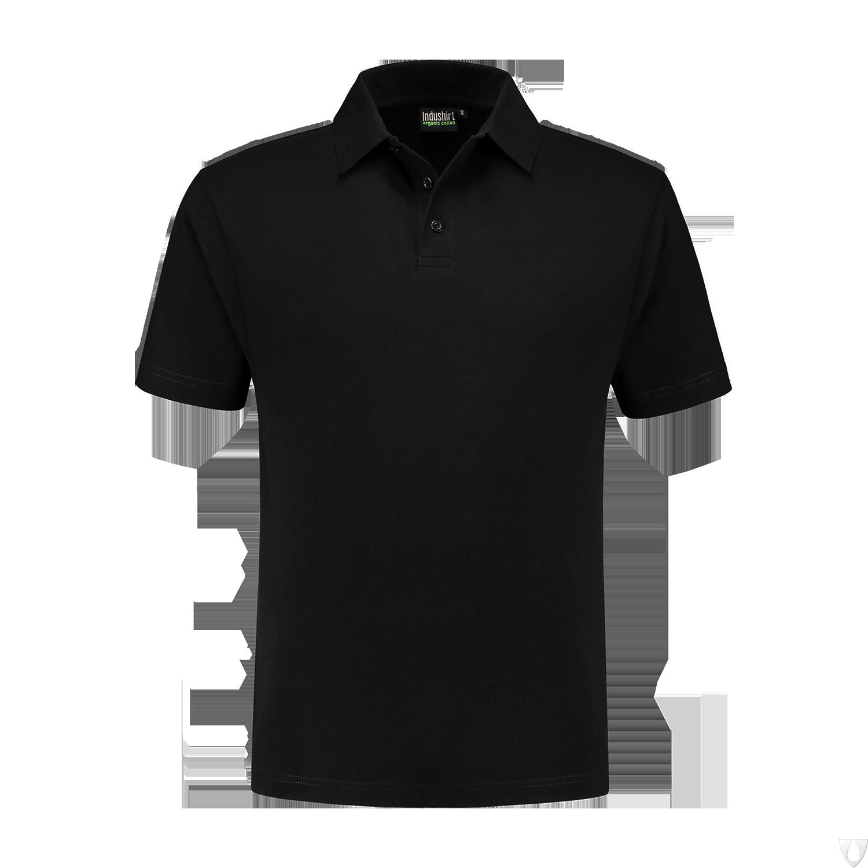 PO200 Indushirt Polo-shirt 60/40 kat/pol Zwart
