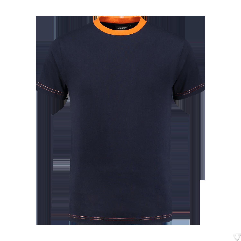 TS180 Indushirt T-Shirt 100 kat Marine/Oranje