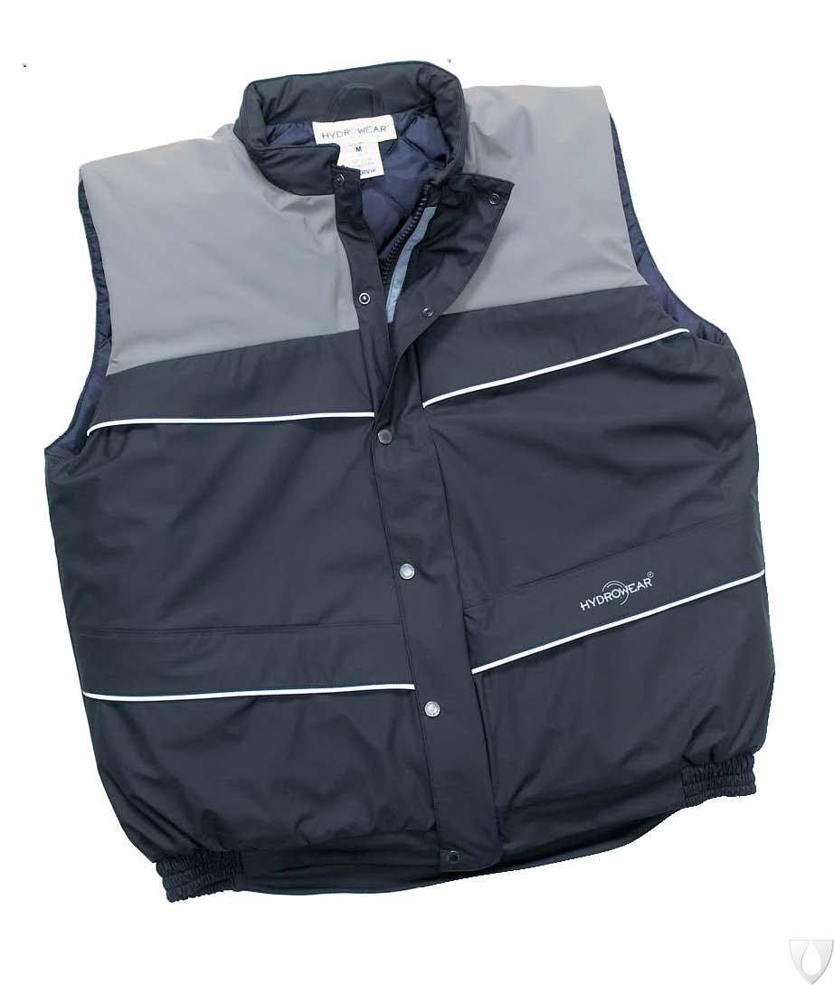 019075BA Hydrowear Bodywarmer Narvik Black/Grey