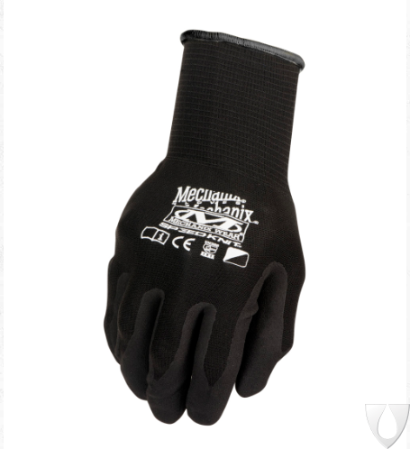 Mechanix Handschoen Knit Nitrile Black S1DE-05