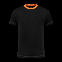 TS180 Indushirt T-Shirt 100 kat Zwart/Oranje