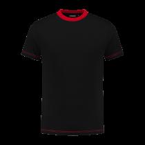 TS180 Indushirt T-Shirt 100 kat Zwart/Rood