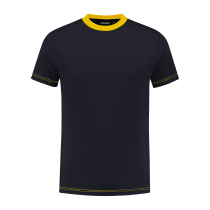 TS180 Indushirt T-Shirt 100 kat Marine/Geel