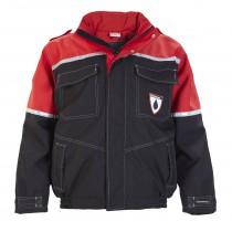 Oilworkwear Luxe Werkjas Premium Zwart/rood Simply no Sweat